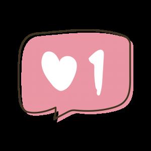 手書きのライクボタンのイラスト
