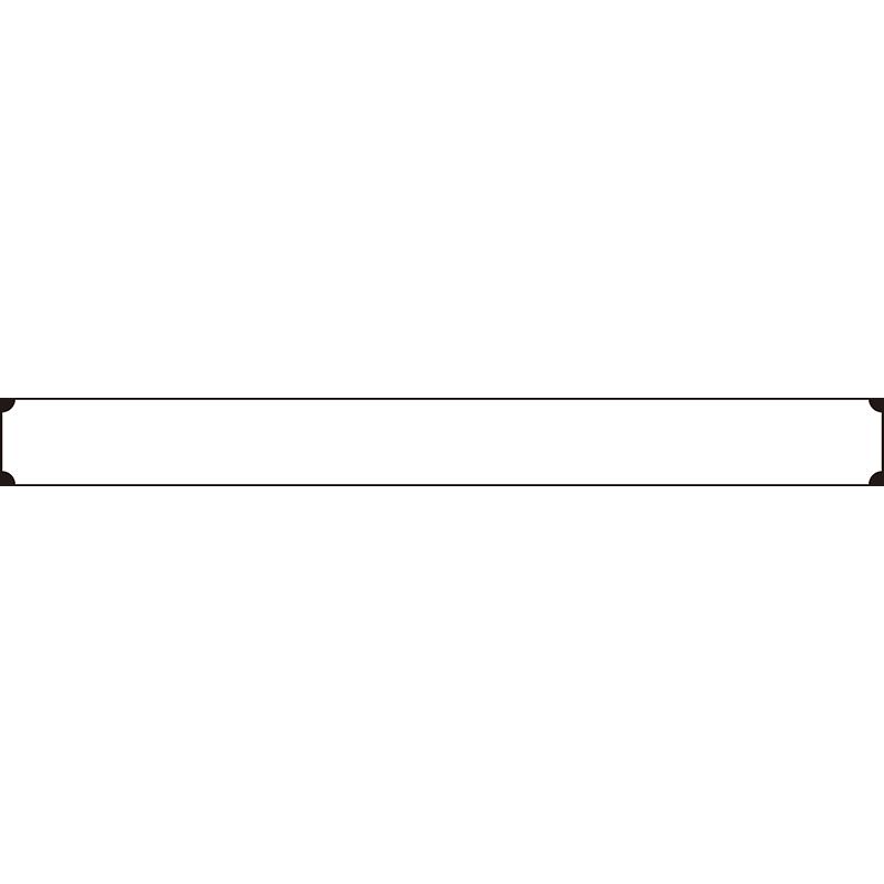 角が丸でくりぬかれた細枠なボトムテロップのイラスト