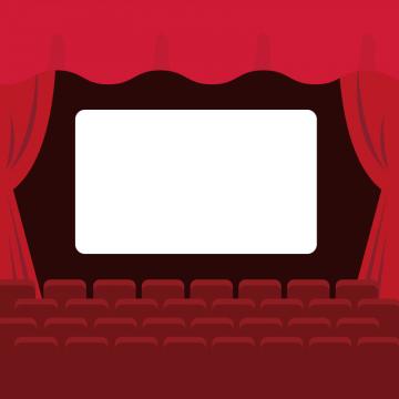 映画館のスクリーンのイラスト