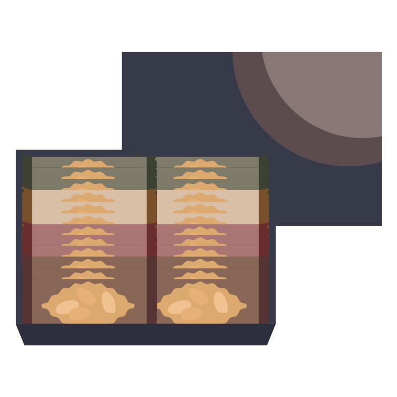 クッキーのお土産のイラスト