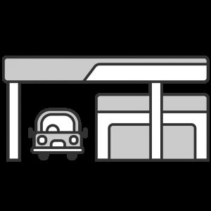レンタカーのお店のイラスト