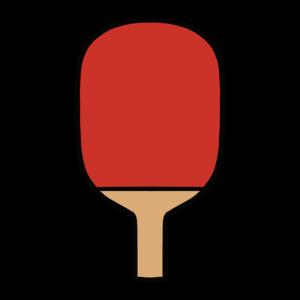 赤いペンホルダーラケットのイラスト