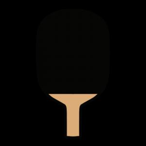 黒いペンホルダーラケットのイラスト