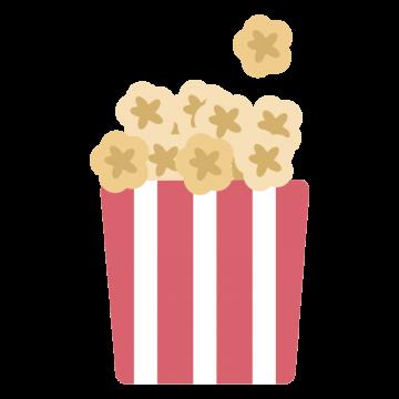 映画館のポップコーンのイラスト