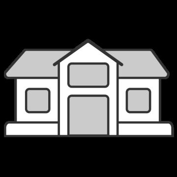 シンプルなお金持ちの家のイラスト
