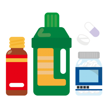 薬局の商品のイラスト