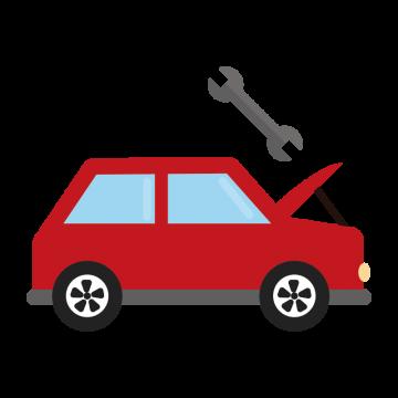 車のメンテナンスのイラスト