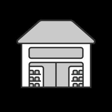 シンプルな雑貨屋の建物のイラスト