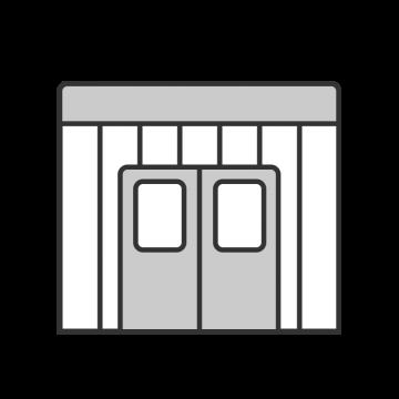 シンプルな物置倉庫のイラスト