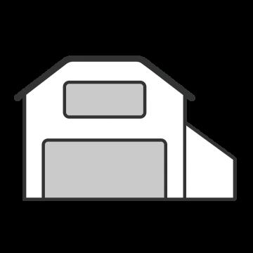 シンプルな物流会社の倉庫のイラスト