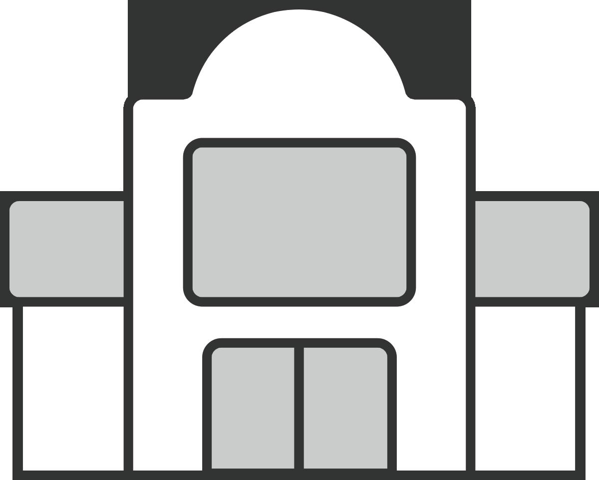 シンプルなレストランの建物のイラスト