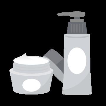 高級な保湿クリーム化粧水のイラスト