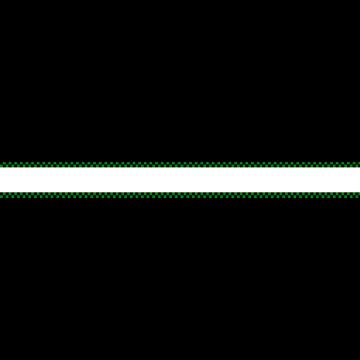 緑と黒の市松模様の和風のボトムテロップのイラスト