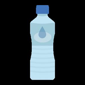 お水のペットボトルのイラスト