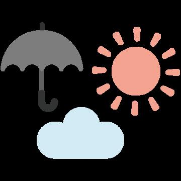 いろいろなかわいい天気マークのイラスト