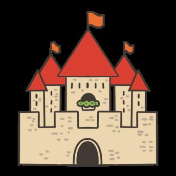 ヨーロッパ風のお城のイラスト