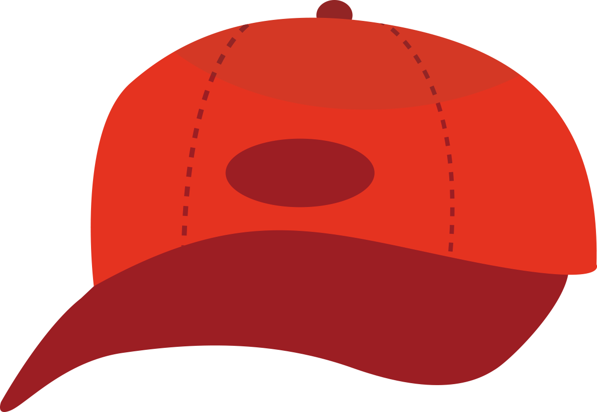 正面から見た赤いキャップのイラスト