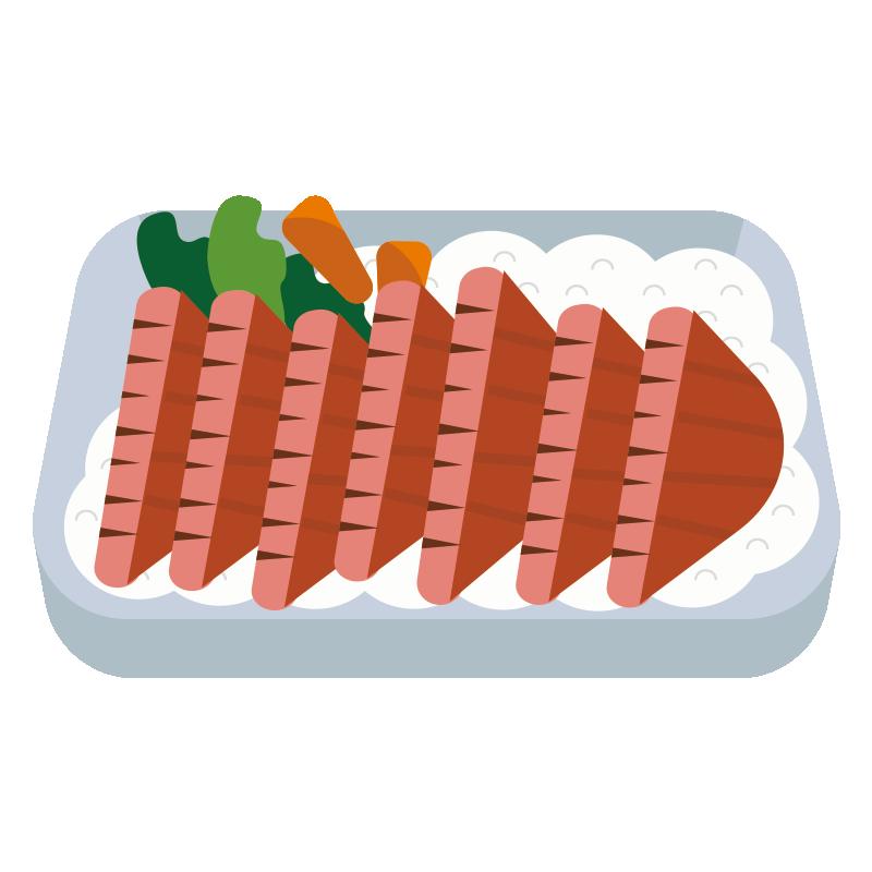 牛タン弁当のイラスト
