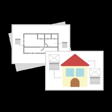 家の設計図のイラスト