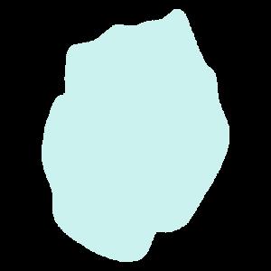 岩手県の地図だけ切り取ったやさしい色合いのイラスト