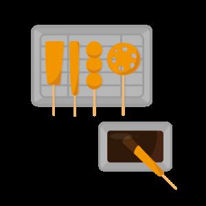 大阪名物の串カツのイラスト