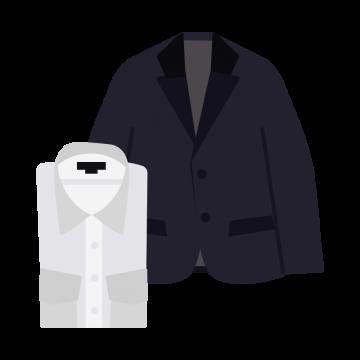 メンズのYシャツとジャケットのイラスト