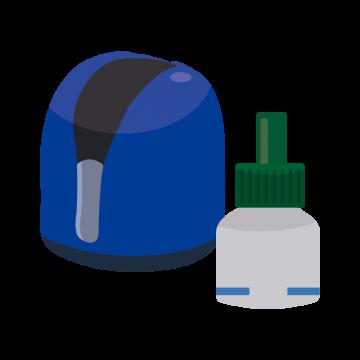 虫除け機械のイラスト