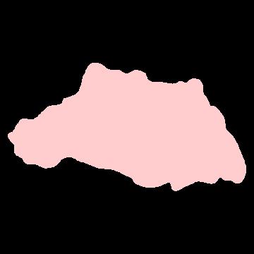 埼玉県の地図だけ切り取ったやさしい色合いのイラスト