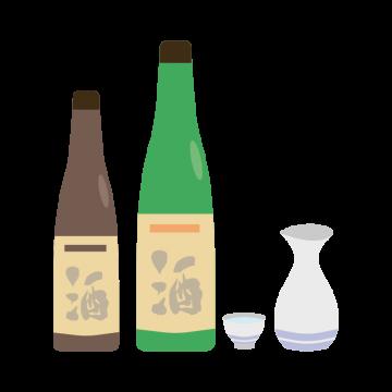 日本酒セットのイラスト