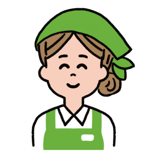 微笑む女性店員さんのイラスト