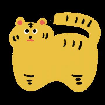 トラの張り子のイラスト