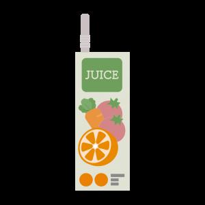 紙パックの野菜ジュースのイラスト