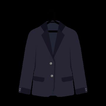 ハンガーにかかっているスーツのイラスト