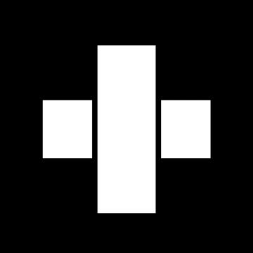 十字の絆創膏のイラスト