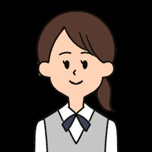 受付の女性をイメージしたイラスト