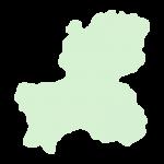 岐阜県の地図だけ切り取ったやさしい色合いのイラスト