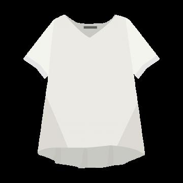 女性用Tシャツのイラスト