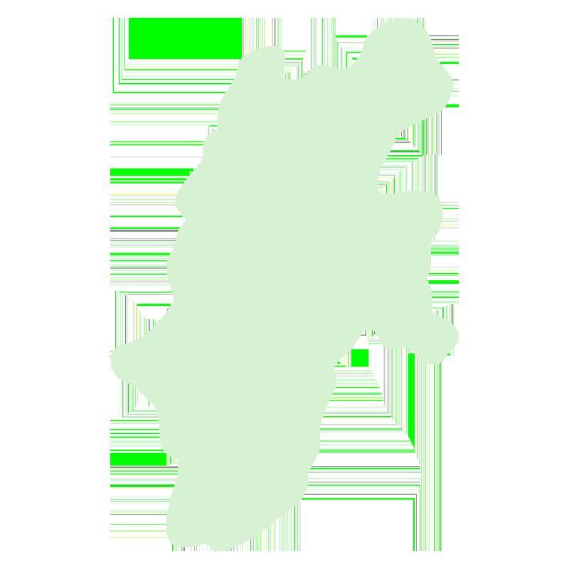 長野県の地図だけ切り取ったやさしい色合いのイラスト