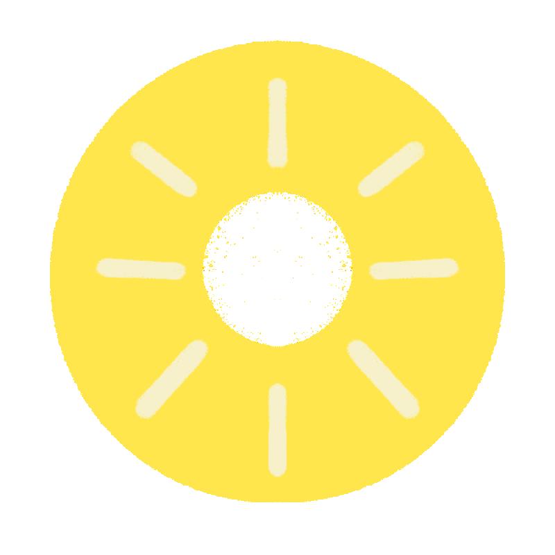パイナップルの輪切りのイラスト