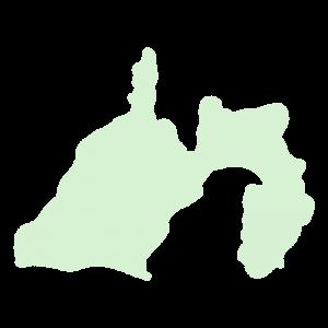 静岡県の地図だけ切り取ったやさしい色合いのイラスト