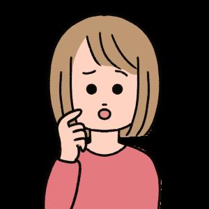 困った顔のボブヘアの女性のイラスト