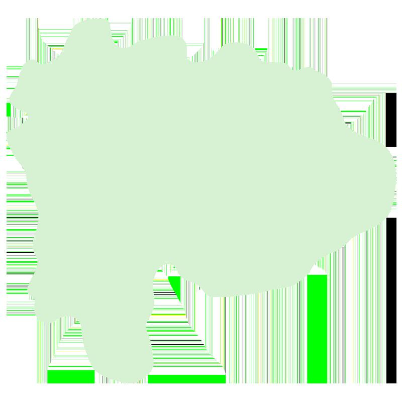 山梨県の地図だけ切り取ったやさしい色合いのイラスト