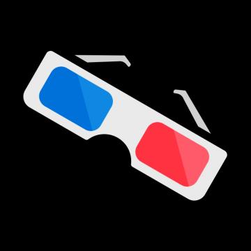 映画館の3Dメガネのイラスト