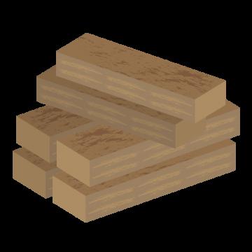 積まれた木材のイラスト