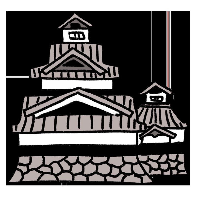 熊本城のイラスト