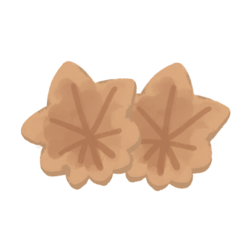 もみじ饅頭のイラスト