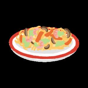 皿うどんのイラスト