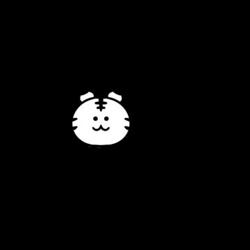 2022年「HAPPY NEW YEAR」黒文字とトラのイラスト